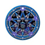 Water Elemental Pentacle Ornament (Round)