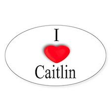 Caitlin Oval Decal