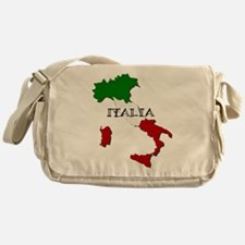 Italy Flag Map Messenger Bag