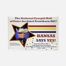 Kansas Says YES! Rectangle Magnet