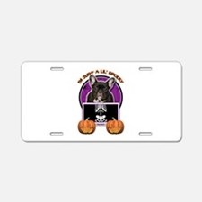 Just a Lil Spooky Frenchie Aluminum License Plate