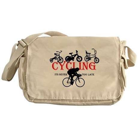 Cycling Cyclists Messenger Bag