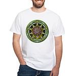 Earth Elemental Pentacle White T-Shirt