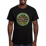 Earth Elemental Pentacle Men's Fitted T-Shirt (dar