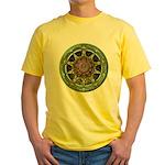 Earth Elemental Pentacle Yellow T-Shirt