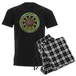 Earth Elemental Pentacle Men's Dark Pajamas