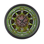Earth Elemental Pentacle Large Wall Clock