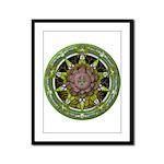 Earth Elemental Pentacle Framed Panel Print
