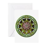 Earth Elemental Pentacle Greeting Cards (Pk of 10)