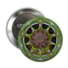"""Earth Elemental Pentacle 2.25"""" Button"""