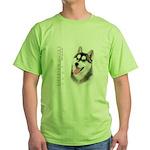 Siberian Husky Green T-Shirt