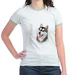 Siberian Husky Jr. Ringer T-Shirt