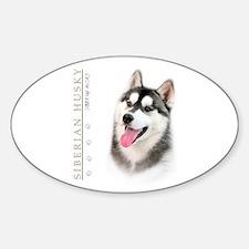 Siberian Husky Sticker (Oval)