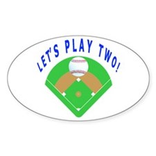 Let's Play Two Baseball Decal