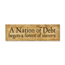 Cute National debt Car Magnet 10 x 3
