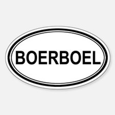 Boerboel Euro Oval Decal