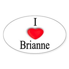 Brianne Oval Decal