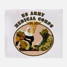 Army - Medical Corps - Medic Throw Blanket
