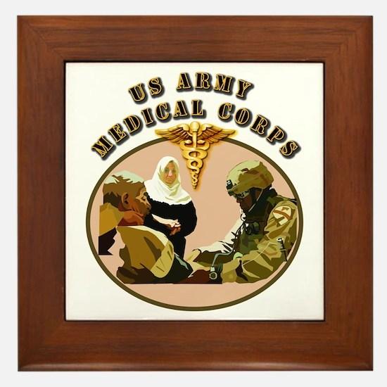 Army - Medical Corps - Medic Framed Tile