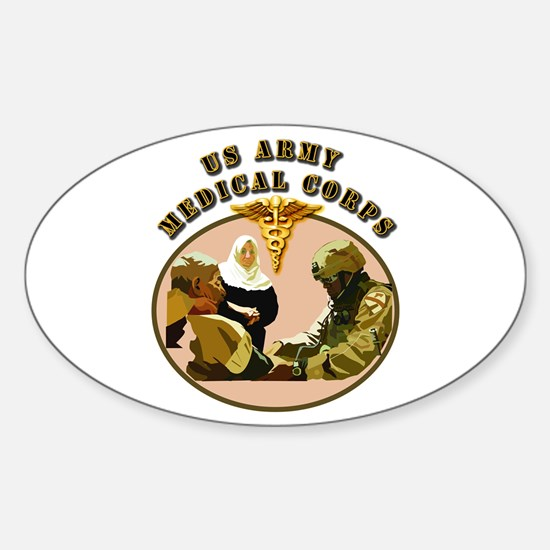 Army - Medical Corps - Medic Sticker (Oval)