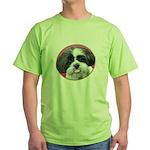 Funny Shih Tzu Green T-Shirt