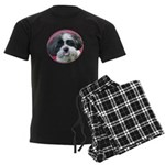 Funny Shih Tzu Men's Dark Pajamas