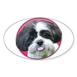 Funny Shih Tzu Sticker (Oval 50 pk)