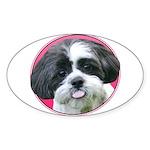 Funny Shih Tzu Sticker (Oval)