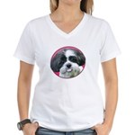 Funny Shih Tzu Women's V-Neck T-Shirt