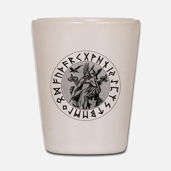 Odin Rune Shield Shot Glass