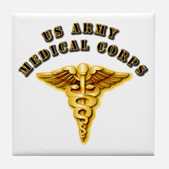 Army - Medical Corps Tile Coaster