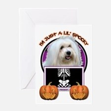 Just a Lil Spooky Coton de Tulear Greeting Card