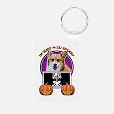 Just a Lil Spooky Corgi Keychains