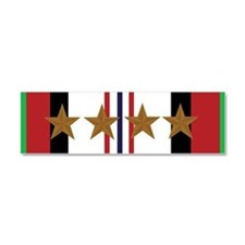 Afghanistan Campaign 4 Star Car Magnet 10 x 3