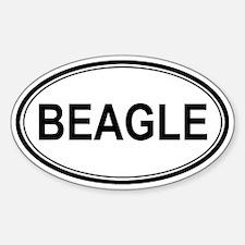 Beagle Euro Oval Decal