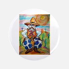 "Cowboy, fun, colorful, 3.5"" Button (100 pack)"