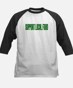 Support Local Food Kids Baseball Jersey