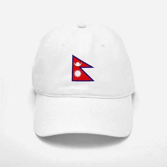 Nepalese Flag Baseball Baseball Cap