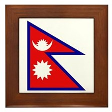Nepalese Flag Framed Tile