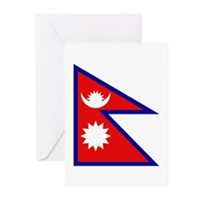 Nepalese Flag Greeting Cards (Pk of 10)