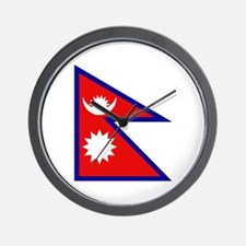 Nepalese Flag Wall Clock