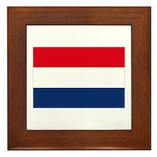 Dutch Flag Framed Tile