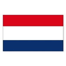 Dutch Flag Rectangle Decal