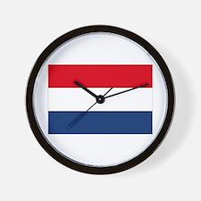 Dutch Flag Wall Clock