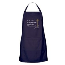 Bible Verse John 16:33 Apron (dark)