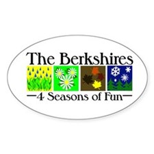 The Berkshires 4 seasons of fun Decal