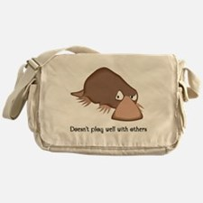 Doesn't Play Well with Others Messenger Bag