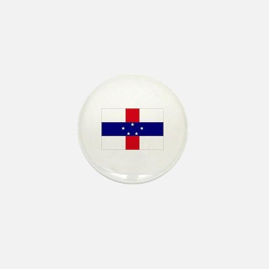 Netherlands Antilles Flag Mini Button