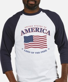 American Flag Baseball tee (red or black also)