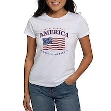 4th of July, American flag Tee